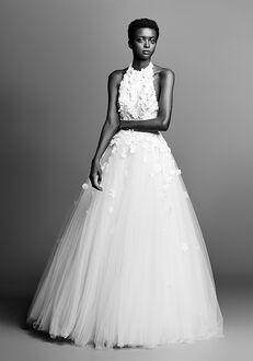 Viktor&Rolf Mariage FLOWER APPLIQUÉ OPEN BACK GOWN Ball Gown Wedding Dress