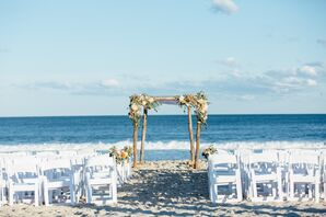 Beachfront Jewish Ceremony with Wood Chuppah