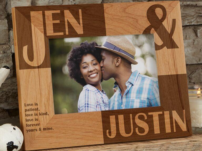 Personalized photo frame gift idea