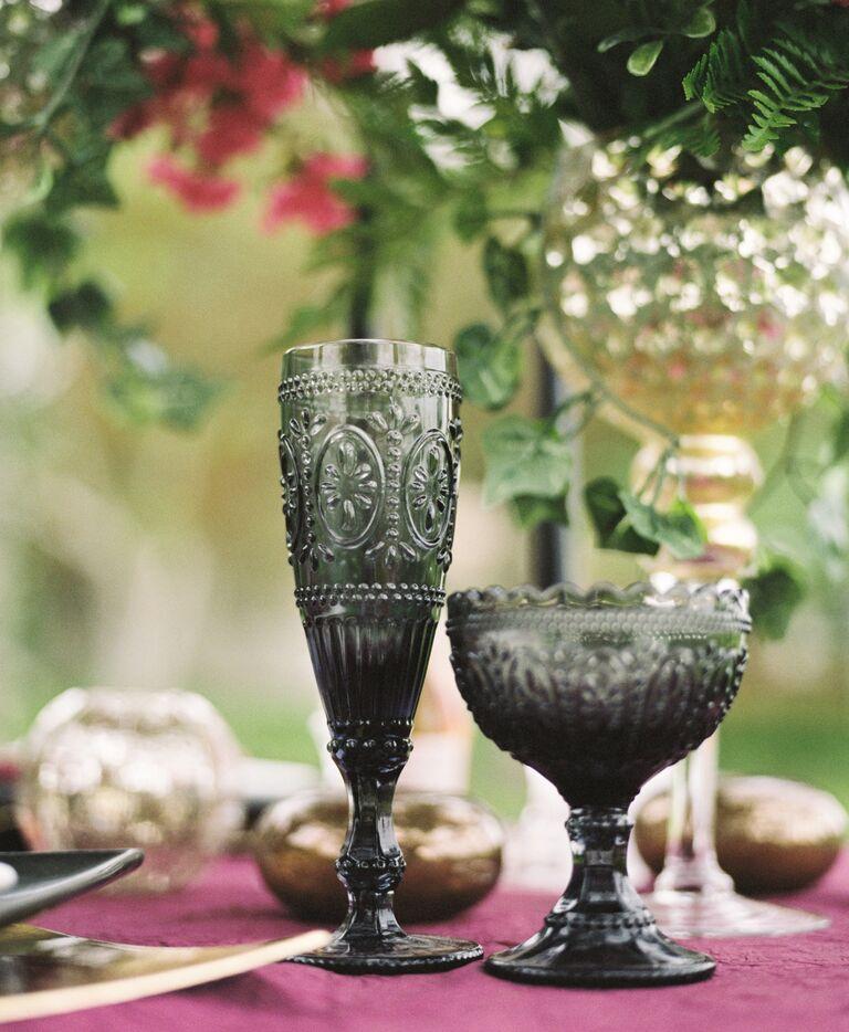 Vintage black goblets