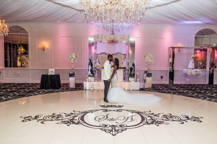 Dance Floor With Couple's Initials Monogrammed