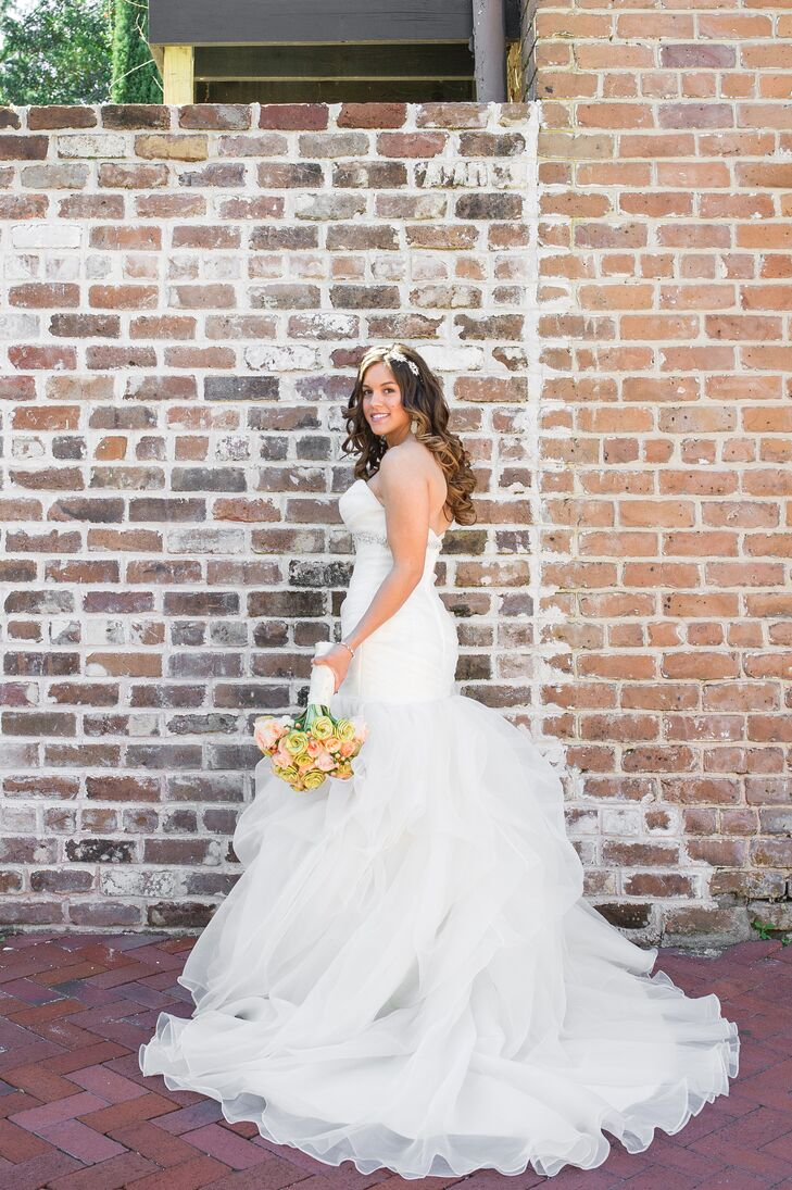 Fitted Strapless Winnie Couture Wedding Gown