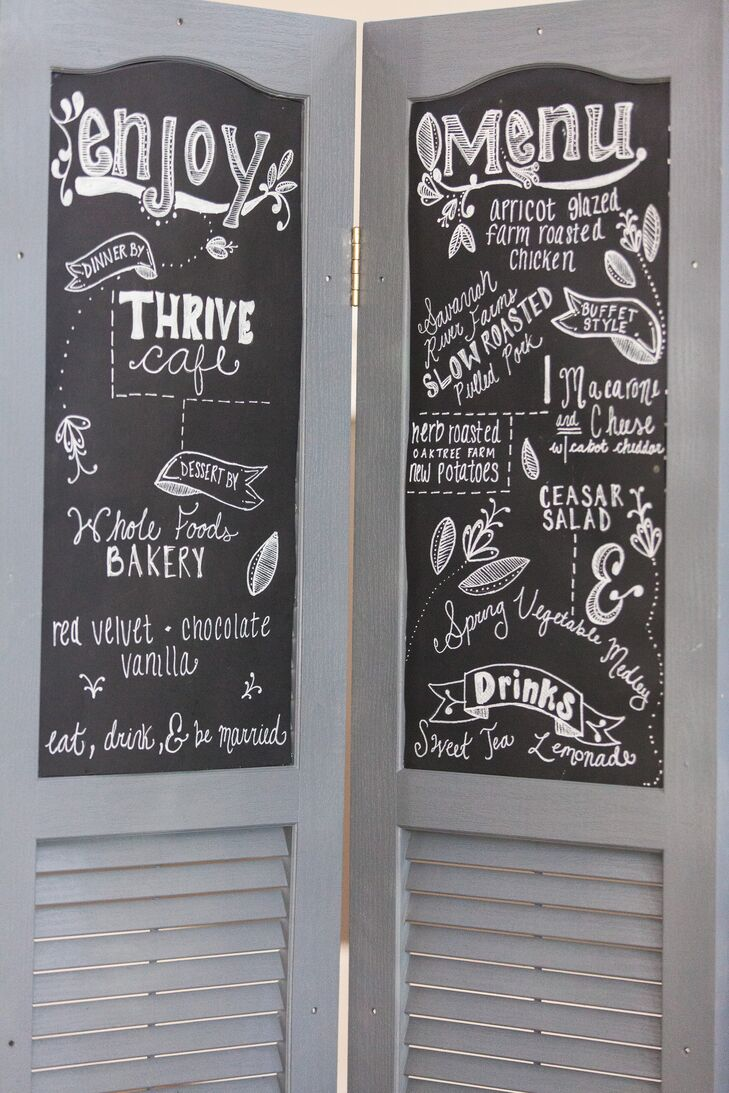Whimsical Chalkboard Dinner Menue