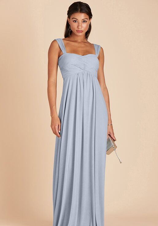 Birdy Grey Maria Convertible Dress in Dusty Blue Sweetheart Bridesmaid Dress