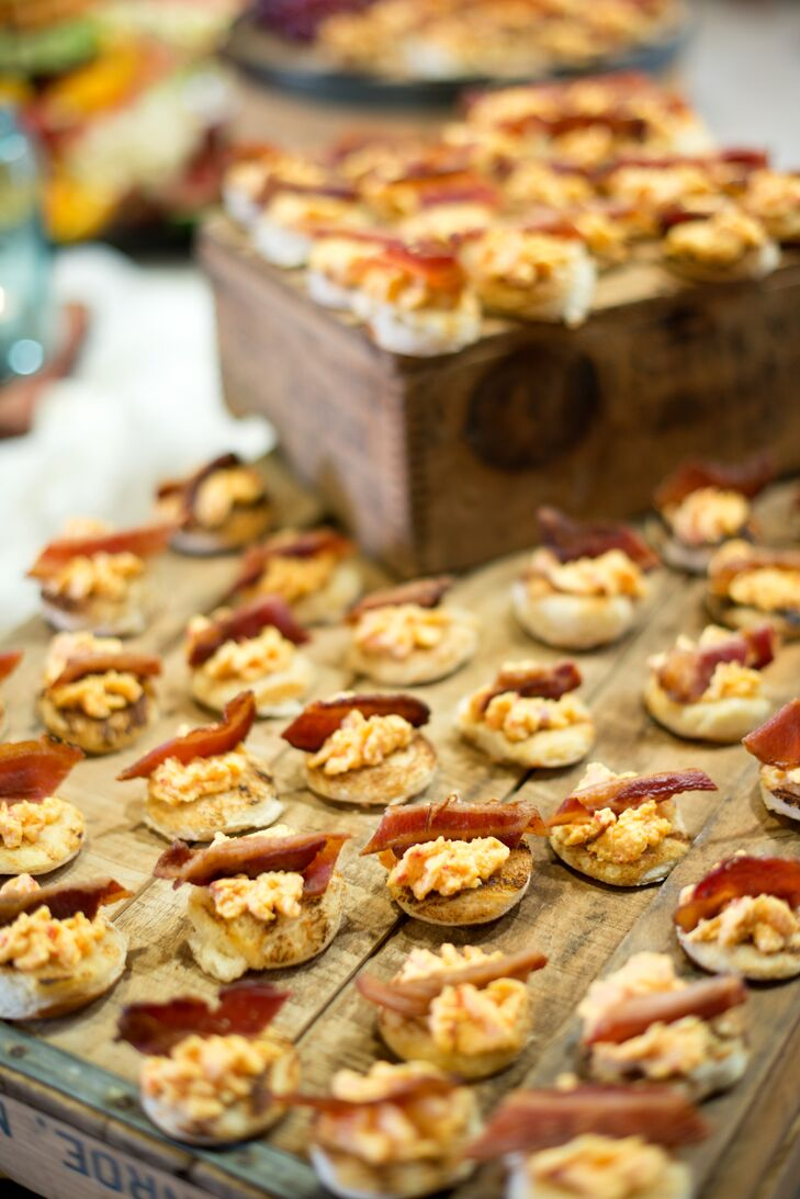 Capital City Catering Bacon Pimento Cheese Bites.