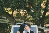 Sarah Orzechowski (26 and an aesthetician) and Brendon Urie (26 and a musician) planned an intimate affair in Malibu, California, with a palette of cl