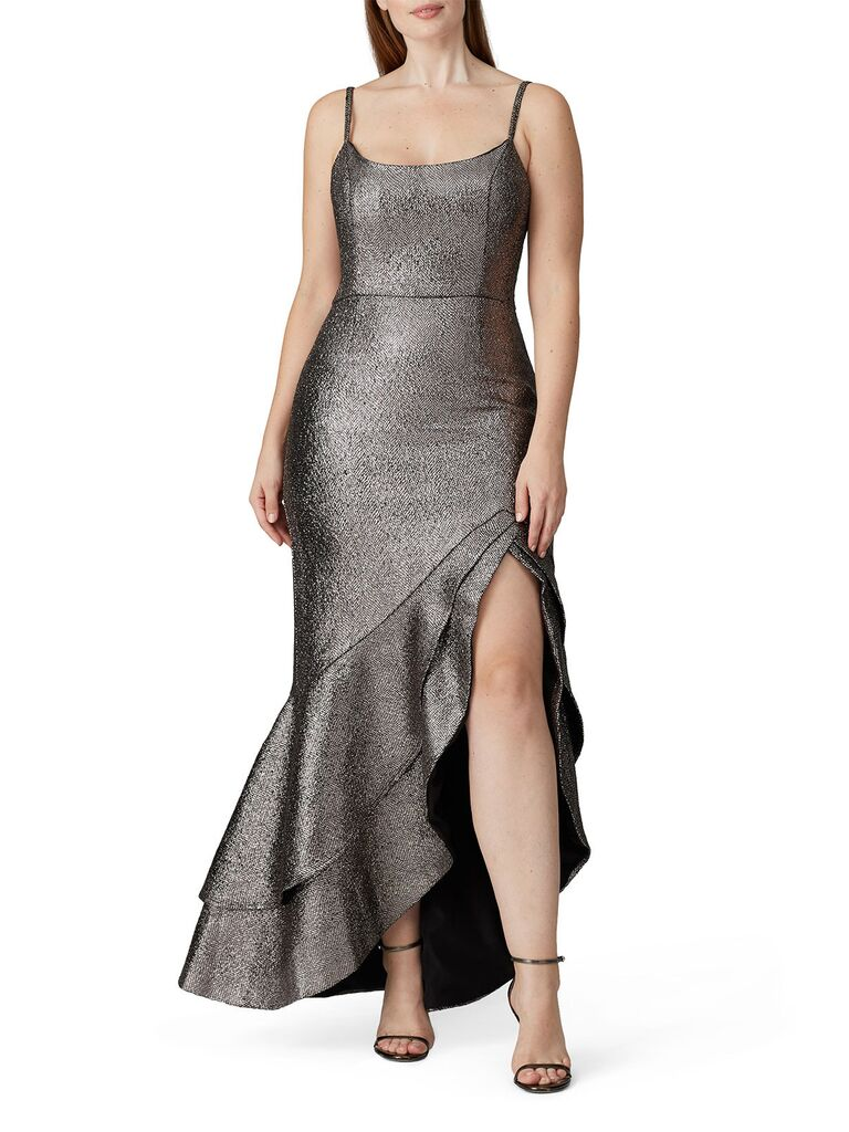 Silver bridesmaid dress under $100