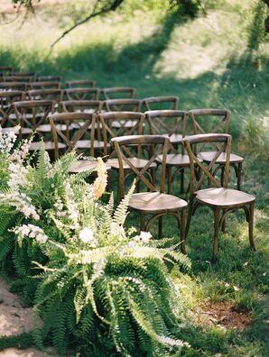 Potted Fern Aisle Decor