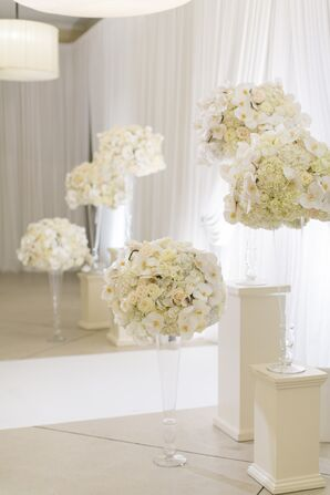 Glamorous Vases with Hydrangeas, Daffodils and Roses