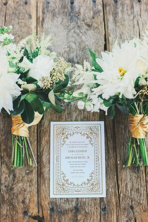 White and Gold Rococo-Inspired Invitations