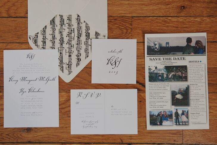 """A high school friend, Jackie Grace Jones, designed our wedding invitations and all the calligraphy for the wedding,"" says Kerry. ""She designed a beautiful monogram with our initials that my best friend made into a stamp, so I was able to add a ""ki"" to just about everything!"""