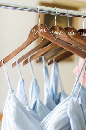 Personalized, Hand-Lettered Dress Hangers