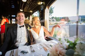Formal Couple on the Napa Valley Wine Train