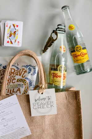 Welcome Bags with Snacks and Itinerary
