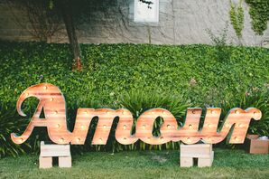 Wooden Amour Marquee Lights