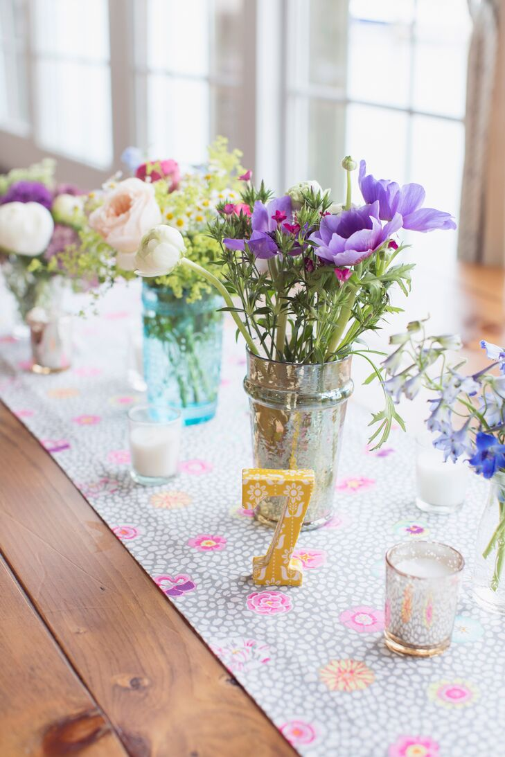 Colorful Printed Table Numbers