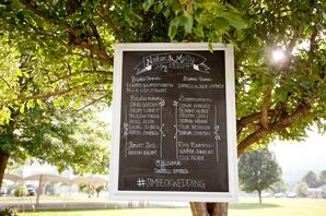 Framed Chalkboard Ceremony Sign
