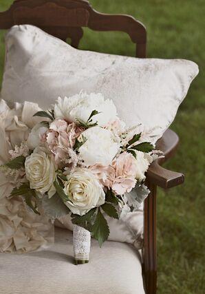 Connecticut Romantic Bouquet on Vintage Chair