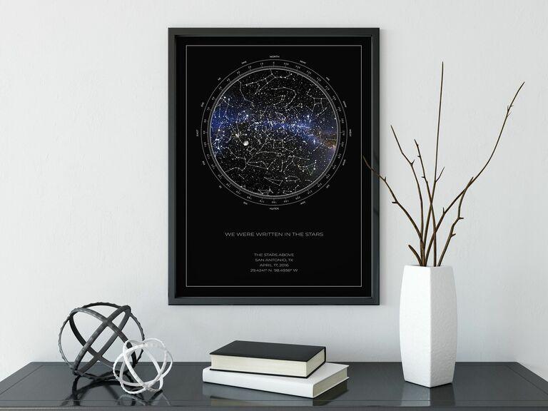 пользовательская звездная карта уникальный и крутой подарок для жены