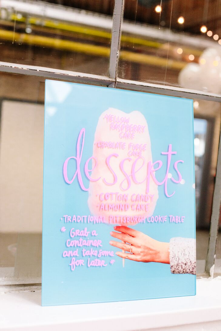 Colorful Dessert Sign with DIY Calligraphy