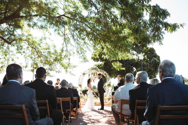Outdoor ceremony at the Belle Isle Casino in Detroit, Michigan
