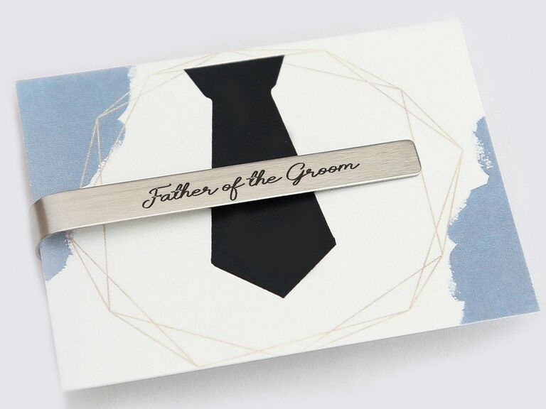 Father of the groom tie bar gift