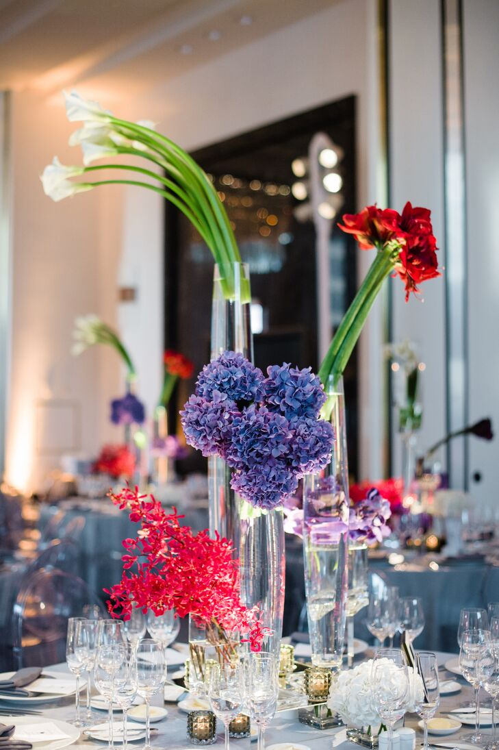 Admirable Tall Modern Calla Lily And Hydrangea Centerpieces Download Free Architecture Designs Scobabritishbridgeorg
