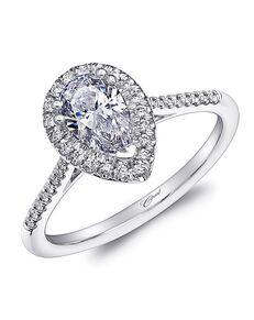 Coast Diamond Elegant Pear Cut Engagement Ring