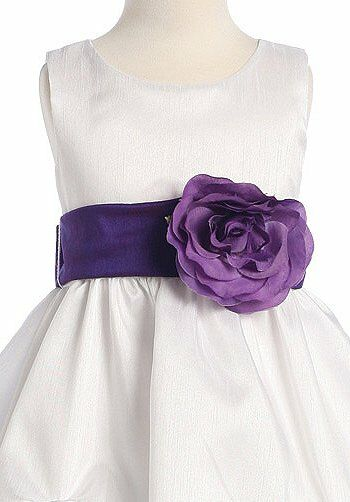 Pink Princess BL212 Purple Flower Girl Dress