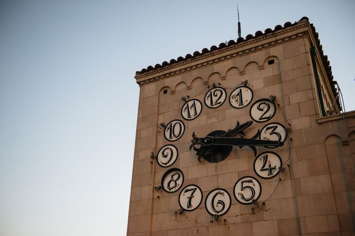 """Back to the Future"" Replica Clocktower Reception Decor"