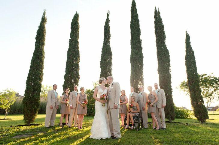 Neutral Bridal Party Attire