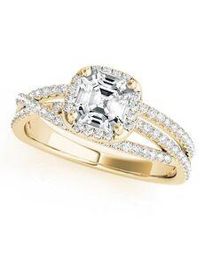 DiamondWish.com Unique Princess, Asscher, Cushion, Radiant Cut Engagement Ring
