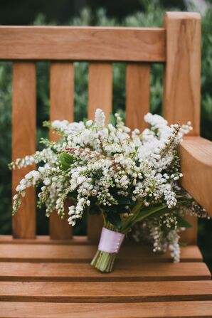 White Pieris and Sweet Pea Bouquet