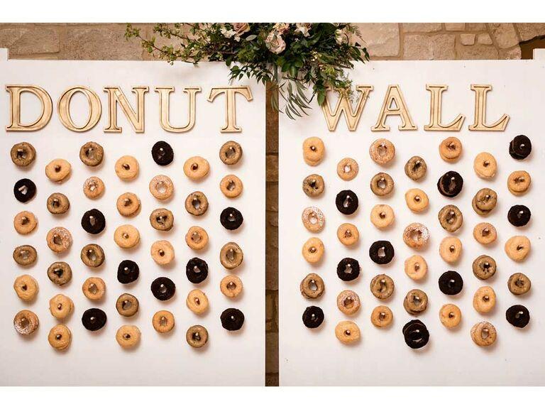 Classic wedding donut wall