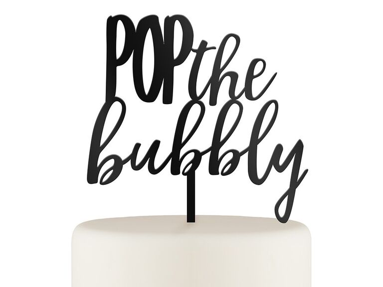 Bachelorette party cake topper