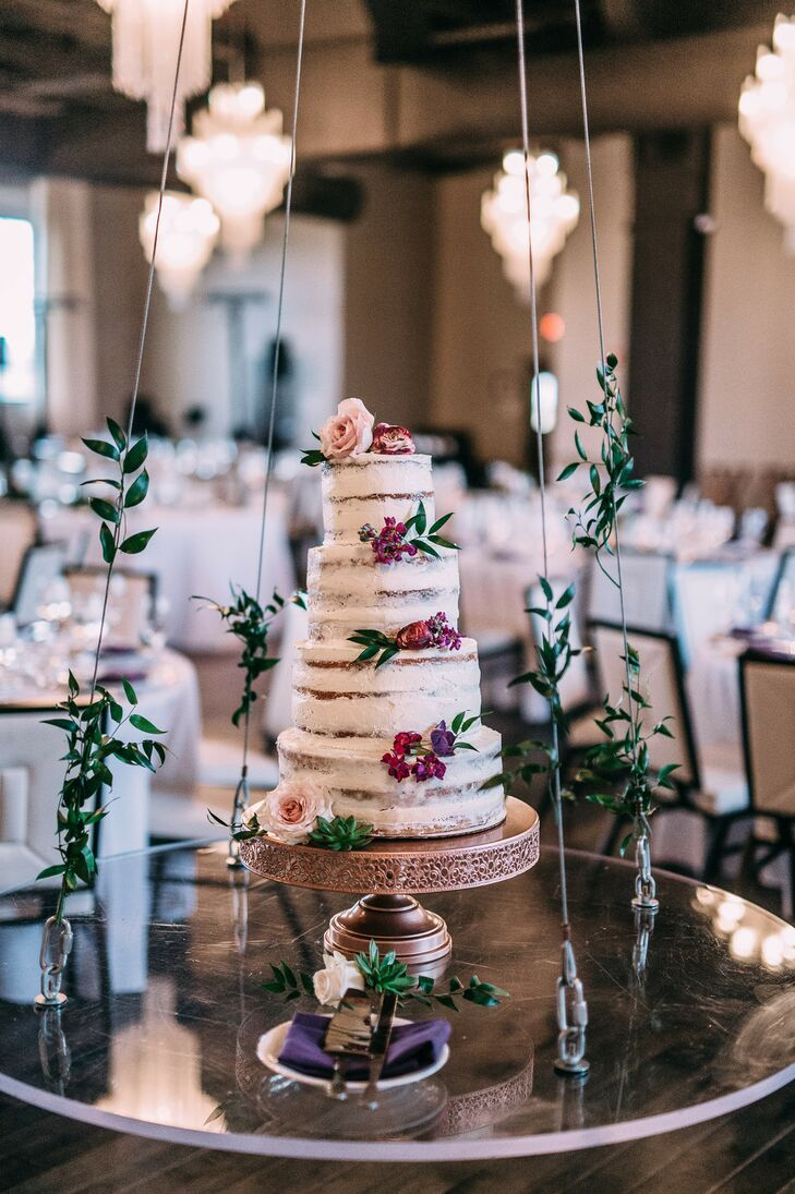 Semi-Naked Cake for Wedding at Bissinger's in St. Louis, Missouri