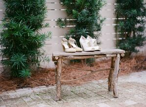 Vintage-Inspired White and Neutral Wedding Shoes