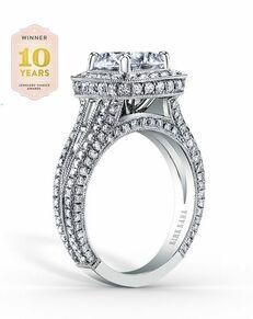 Kirk Kara Glamorous Round Cut Engagement Ring