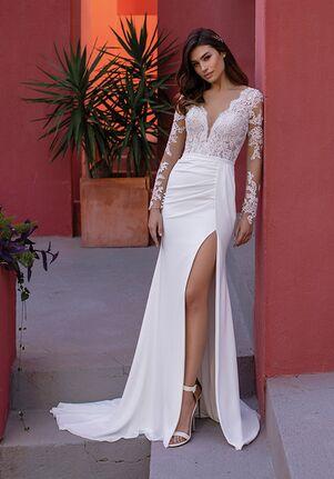 WHITE ONE FERN Mermaid Wedding Dress