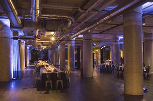 Glam-Industrial Wedding Reception