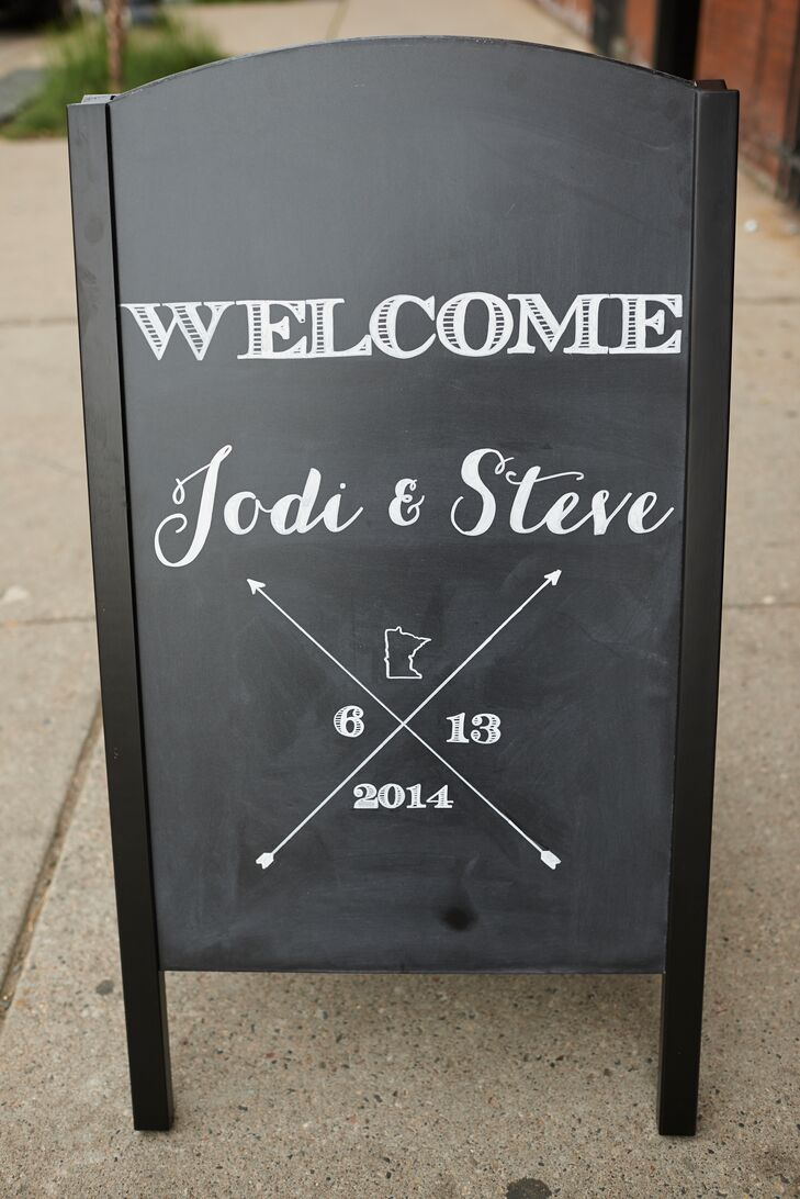 Black-and-White Welcome Sign