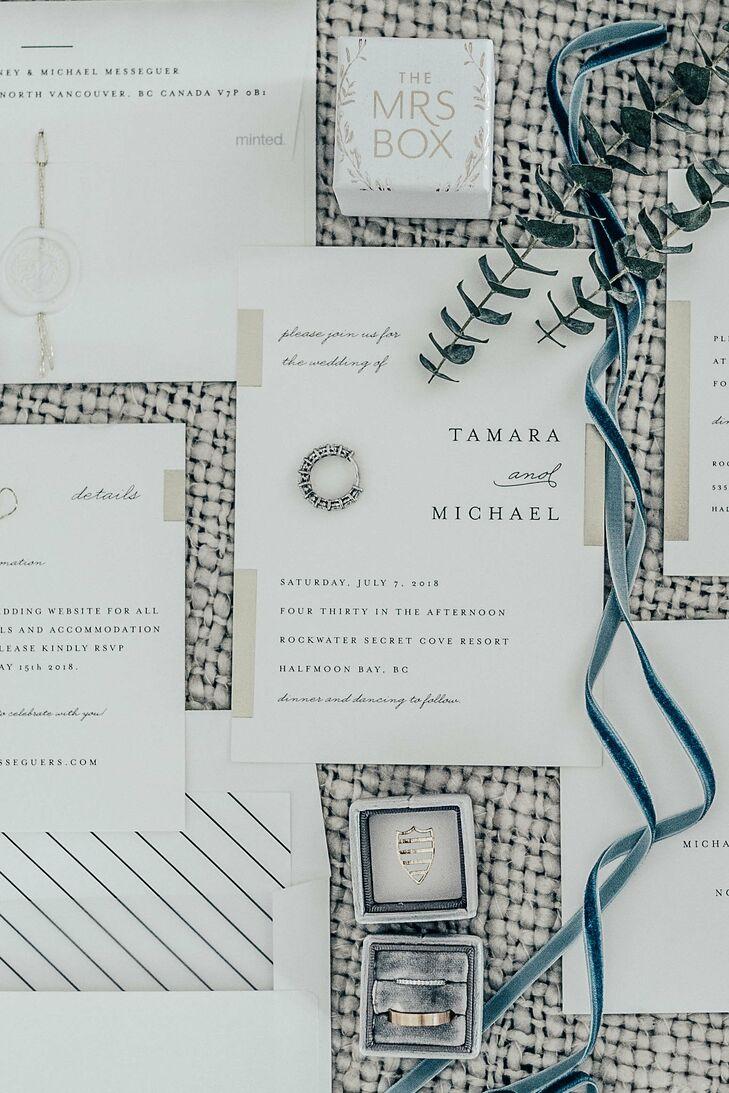 Elegant Wedding Invitations with Simple Typography