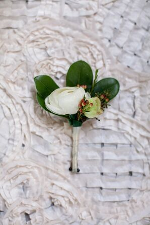 Boutonniere With Peonies
