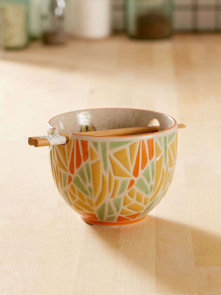 Noodle Bowl and Chopsticks registry idea