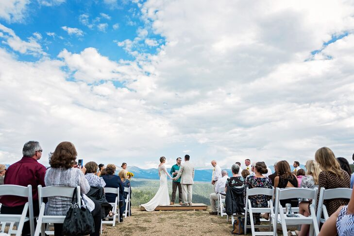 Jenn and Zach Mountaintop Ceremony at Granby Ranch