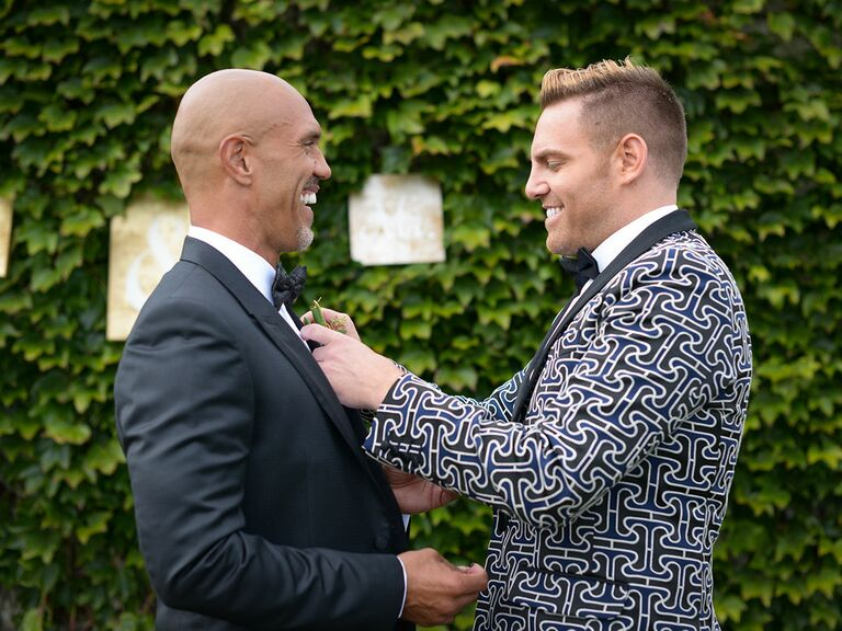 Groom and groom first look