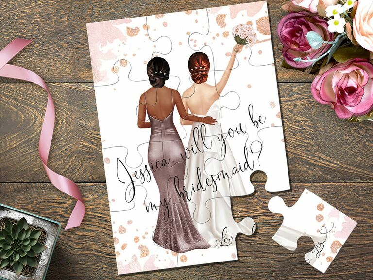 personalized bridesmaid proposal puzzle