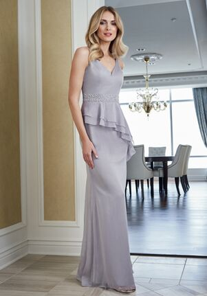 Jade Mother of the Bride by Jasmine J215059 Gray Mother Of The Bride Dress