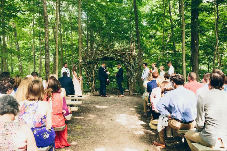 Rustic Outdoor Ceremony at Canyon Run Ranch in Pleasant Hill, Ohio