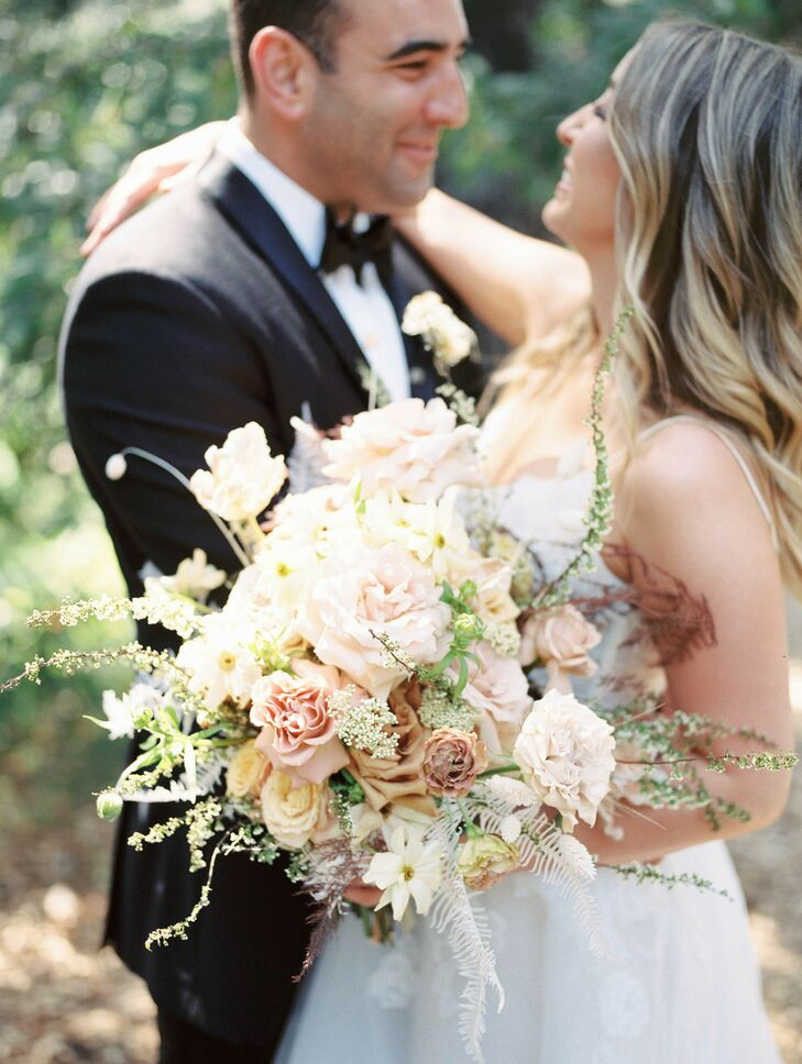 Romantic Blush Bouquet with Roses and Carnations